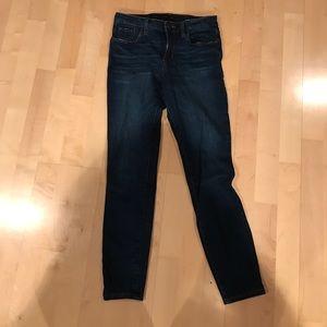 Dark blue skinny ankle jeans
